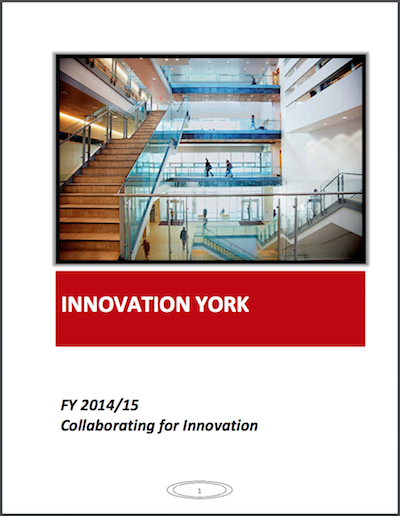 Innovation York Annual Report Cover 2014-2015